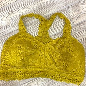 Maurices Mustard Yellow Lace Bandeau